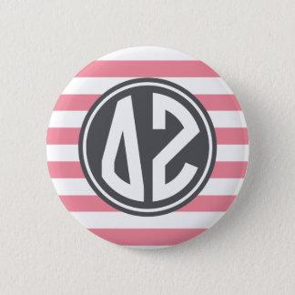 Delta Zeta | Monogram Stripe Pattern 6 Cm Round Badge