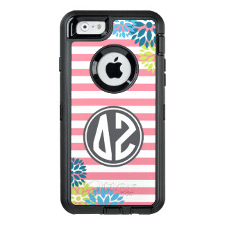Delta Zeta   Monogram Stripe Pattern OtterBox Defender iPhone Case