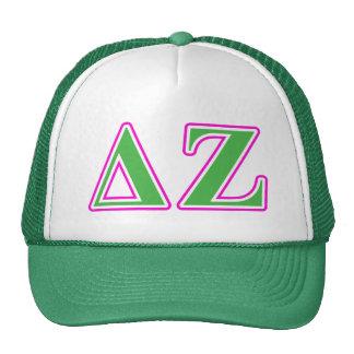 Delta Zeta Pink and Green Letters Cap