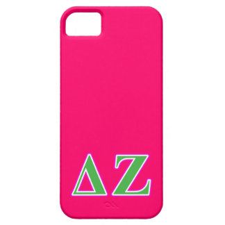 Delta Zeta Pink and Green Letters Case For The iPhone 5