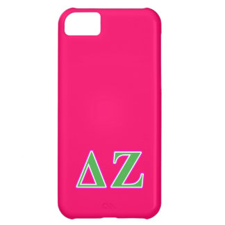 Delta Zeta Pink and Green Letters iPhone 5C Case