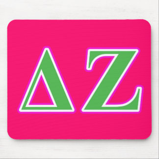 Delta Zeta Pink and Green Letters Mouse Mat