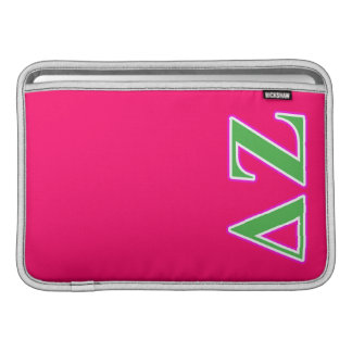 Delta Zeta Pink and Green Letters Sleeve For MacBook Air