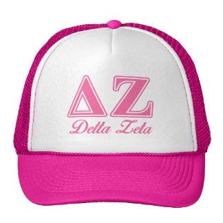 Delta Zeta Pink Letters Cap