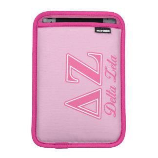Delta Zeta Pink Letters iPad Mini Sleeve
