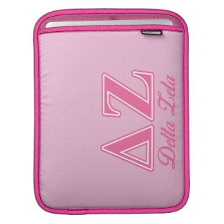 Delta Zeta Pink Letters iPad Sleeve