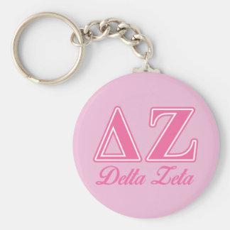 Delta Zeta Pink Letters Key Ring
