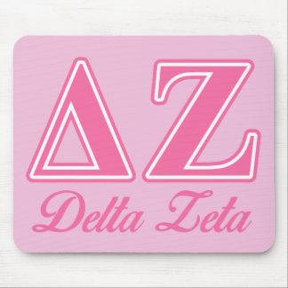 Delta Zeta Pink Letters Mouse Mat