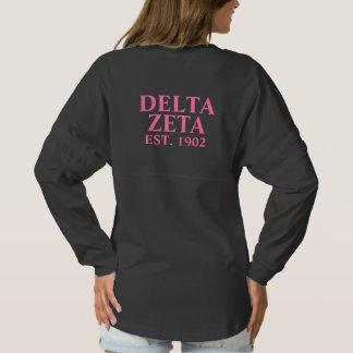 Delta Zeta Pink Letters Spirit Jersey