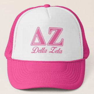 Delta Zeta Pink Letters Trucker Hat