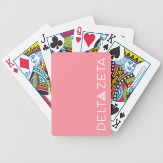 Delta Zeta Primary Logo White Bicycle Playing Cards