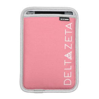 Delta Zeta Primary Logo White iPad Mini Sleeve