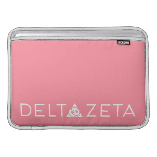 Delta Zeta Primary Logo White Sleeve For MacBook Air