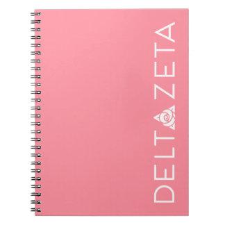 Delta Zeta Primary Logo White Spiral Notebook
