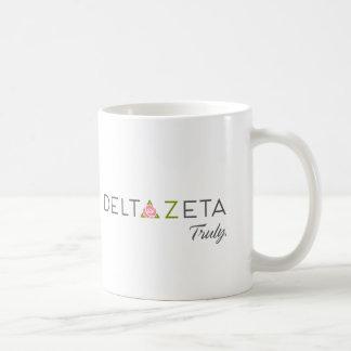 Delta Zeta Primary Logo with Promise Coffee Mug