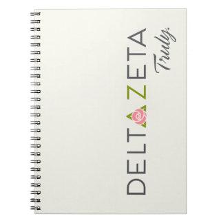 Delta Zeta Primary Logo with Promise Notebook