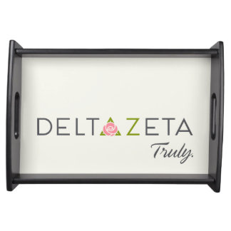 Delta Zeta Primary Logo with Promise Serving Tray