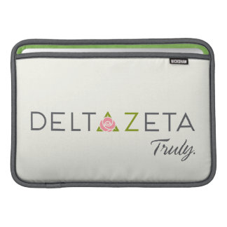 Delta Zeta Primary Logo with Promise Sleeve For MacBook Air