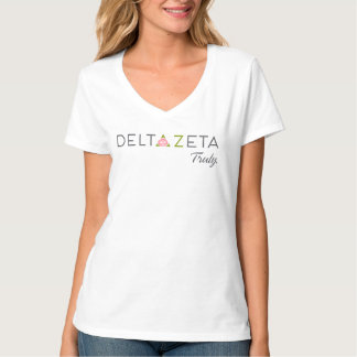 Delta Zeta Primary Logo with Promise T-Shirt