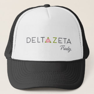 Delta Zeta Primary Logo with Promise Trucker Hat