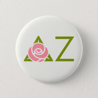 Delta Zeta Rose Icon 6 Cm Round Badge