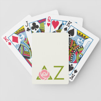 Delta Zeta Rose Icon Bicycle Playing Cards