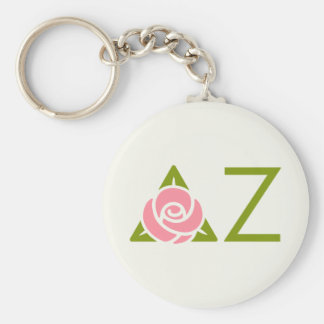 Delta Zeta Rose Icon Key Ring