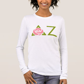 Delta Zeta Rose Icon Long Sleeve T-Shirt
