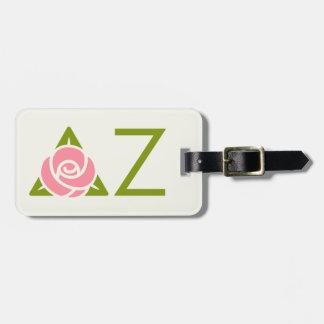 Delta Zeta Rose Icon Luggage Tag