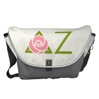 Delta Zeta Rose Icon Messenger Bag