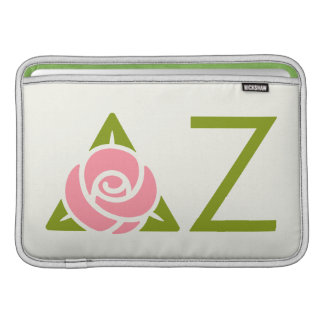 Delta Zeta Rose Icon Sleeve For MacBook Air