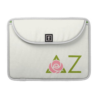 Delta Zeta Rose Icon Sleeve For MacBooks