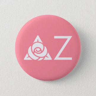 Delta Zeta Rose Icon White 6 Cm Round Badge