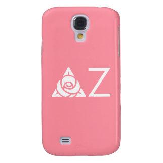 Delta Zeta Rose Icon White Galaxy S4 Case