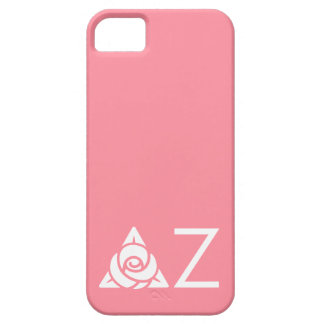Delta Zeta Rose Icon White iPhone 5 Cases
