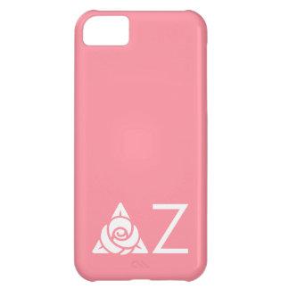 Delta Zeta Rose Icon White iPhone 5C Case