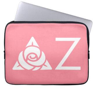 Delta Zeta Rose Icon White Laptop Sleeve