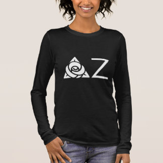 Delta Zeta Rose Icon White Long Sleeve T-Shirt