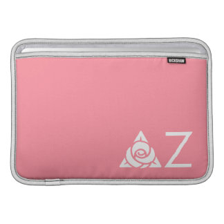 Delta Zeta Rose Icon White MacBook Sleeve
