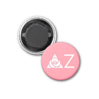 Delta Zeta Rose Icon White Magnet