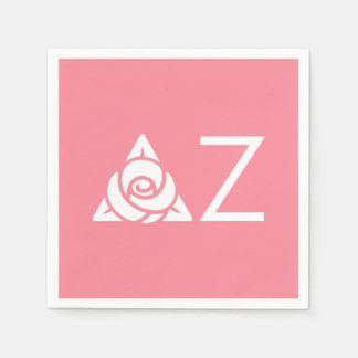 Delta Zeta Rose Icon White Paper Napkins