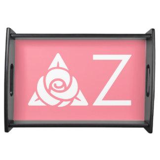 Delta Zeta Rose Icon White Serving Tray