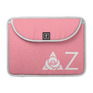 Delta Zeta Rose Icon White Sleeve For MacBook Pro