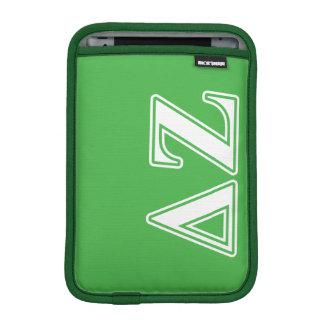 Delta Zeta White and Green Letters iPad Mini Sleeve