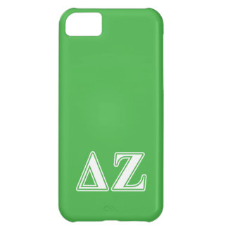 Delta Zeta White and Green Letters iPhone 5C Case