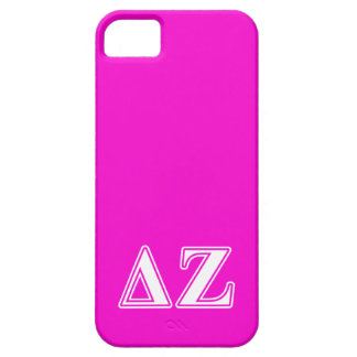 Delta Zeta White and Pink Letters Case For The iPhone 5