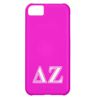 Delta Zeta White and Pink Letters iPhone 5C Case