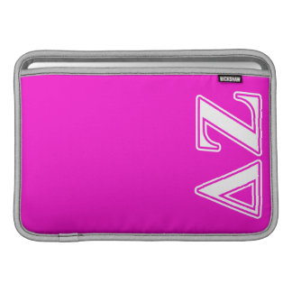Delta Zeta White and Pink Letters MacBook Sleeve
