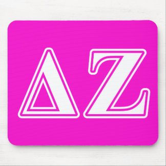 Delta Zeta White and Pink Letters Mouse Mat