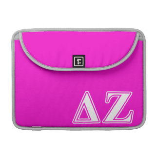 Delta Zeta White and Pink Letters Sleeve For MacBooks